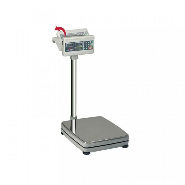 Báscula 150 kg Electrónica de Suelo con Base Inox Cuadrada