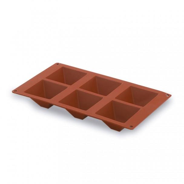Molde Pirámide 6 Cavidades Silicona Pastryflex