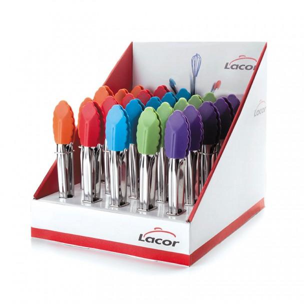 Caja Display Pinzas Silicona Colores 25 Piezas