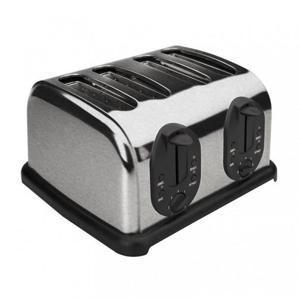 Tostadora Automática 4 Ranuras para Rebanadas de Pan