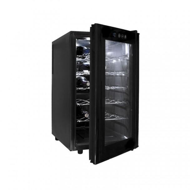 Armario Refrigerador Eléctrico 48 l/70 W - 18 Botellas Black Line