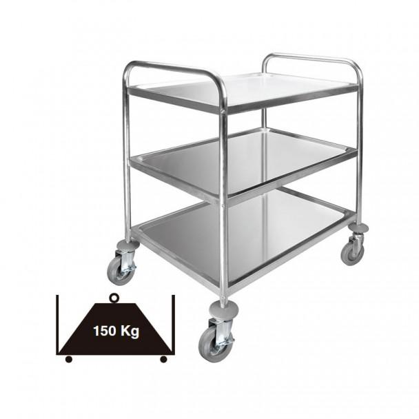 Carro Servicio 3 Bandejas Desmontable Inox 150 kg