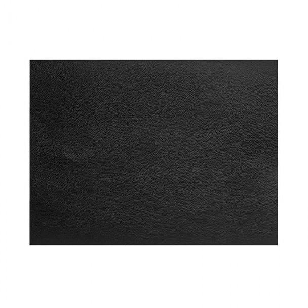 Mantel Individual de Cuero Granulado Negro Rectangular