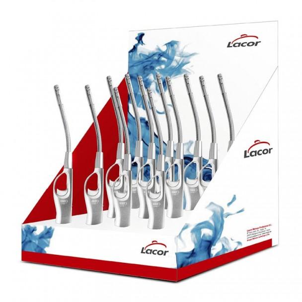 Caja Display 12 Encendedores de Gas Caña Flexible